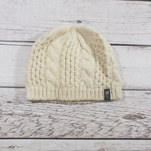 The north face Womens cream knit winter hat